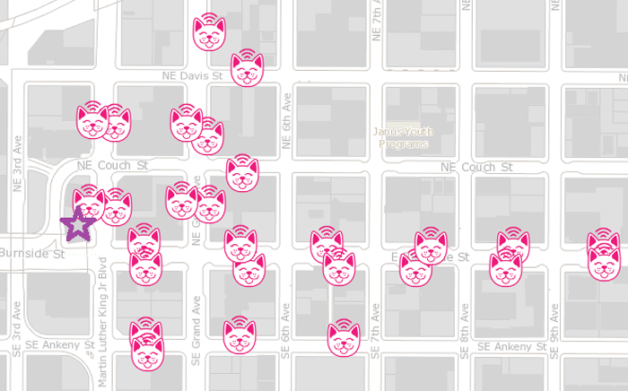 Parking Kitty map